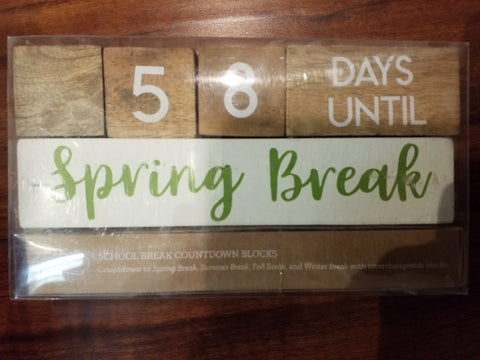 Teacher Break Countdown Blocks