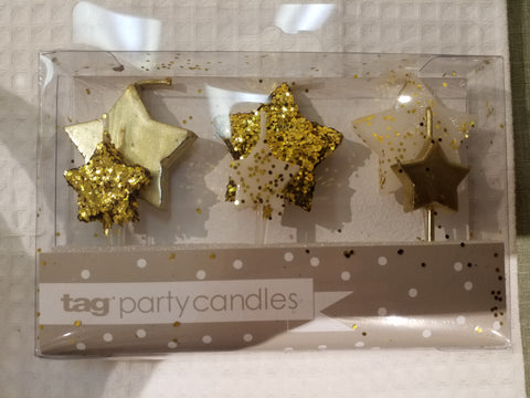 Gold Party Candles