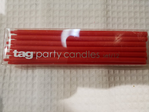 Long Red Candles