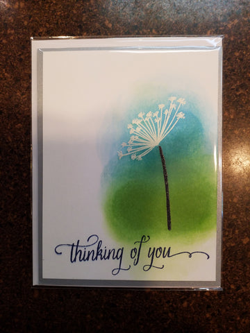 Thinking of you dandelion card