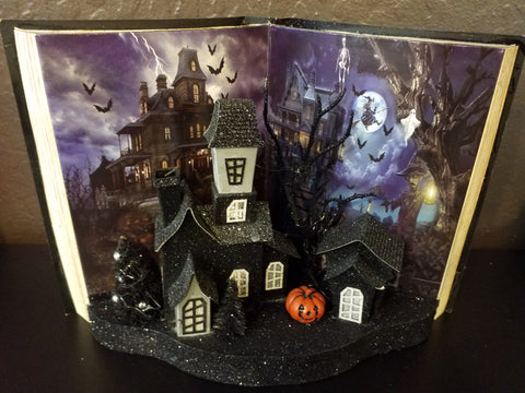 Halloween Haunted House Lighted Book