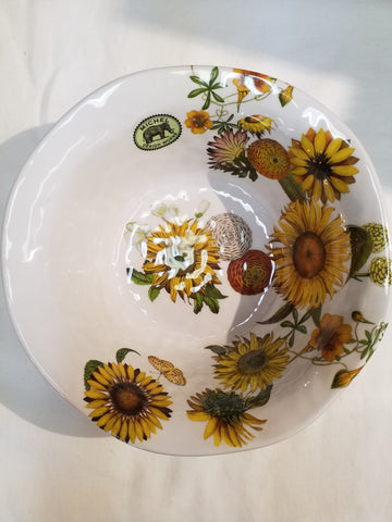 Sunflower Melamine Medium Bowl