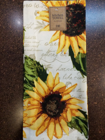 Rustic Sunflower Dishtowel