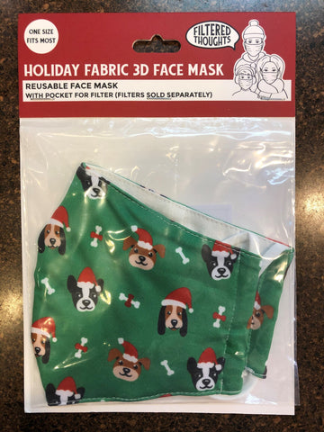 Santa Dog Face Mask (Adult)