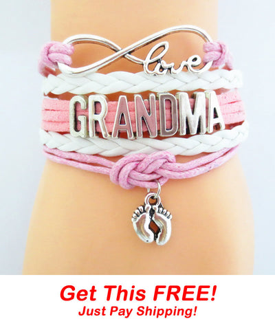 Infinity Love Grandma Pink Bracelet - FREE + Shipping Event