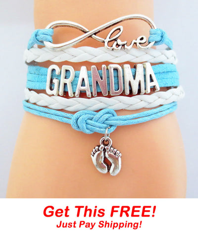 Infinity Love Grandma Powder Blue Bracelet - FREE + Shipping Event