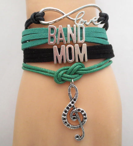 Infinity Love Band Mom Bracelet - FREE SHIPPING - Hand Made Leather Strap Wrap