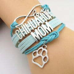 Infinity Love Chihuahua Mom Bracelet on Sale - Dog Lover Gift