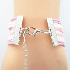 Infinity Love Mom Bracelet - FREE SHIPPING - Hand Made Leather Strap Wrap