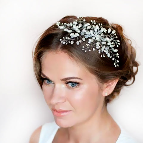Imitation Pearl Bridal Hair Accessories Bridal Combs Hairpin Tiara Wedding Hair Accessories