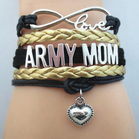 Infinity Love Army Mom Bracelet BOGO