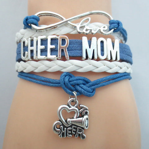 Infinity Love Cheer Mom Bracelet BOGO