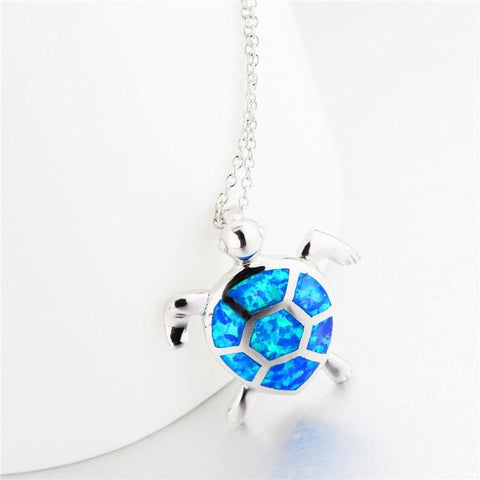 Chain with blue opal turtle pendants 925 sterling silver necklace necklace 925 sterling silver necklace chain with blue opal turtle pendants necklace aloadofball Gallery