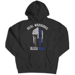Real Warriors Bleed Blue - Police Tee