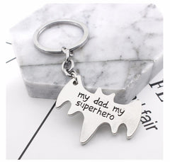 My Dad My Superhero - Charm Pendant Keychain - Father's Day Dad Gifts