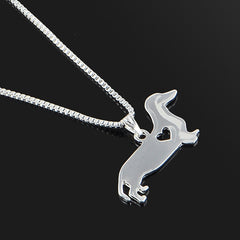 Dog Family Stroll Design Pendant Necklace Fashion Women Jewelry