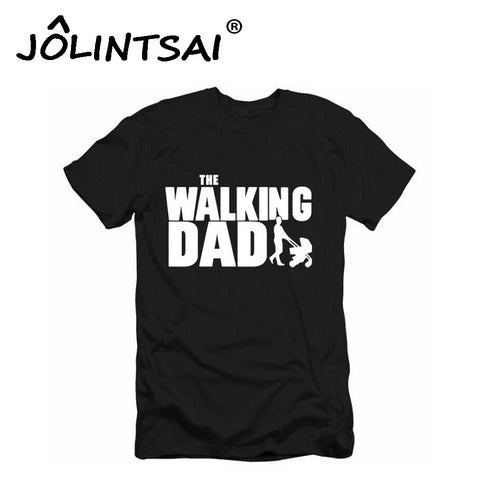 2017 New Short Sleeve T Shirt The Walking Dad Men's Funny T-Shirt Men Cotton Novelty Top Tee Camisetas Father's Day Gift Hombre