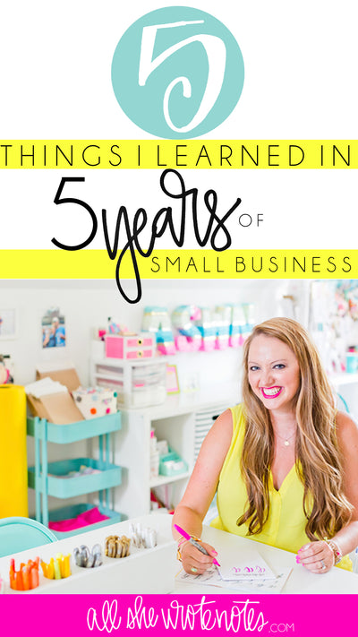 Five Things I've Learned in Five Years of Business
