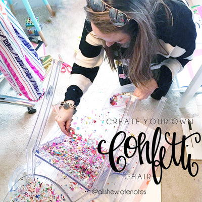 Create Your Own Confetti Chair
