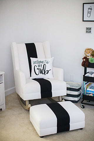 black and white nursery chair - emily and merritt from pottery barn kids