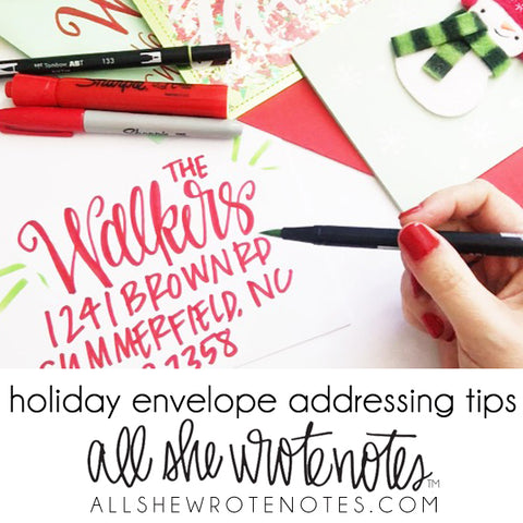 holiday envelope addressing made easy