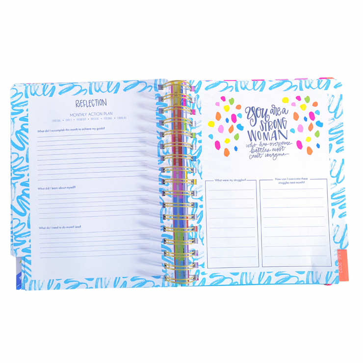 Planner - Confetti Be Happy Be Bright Be You
