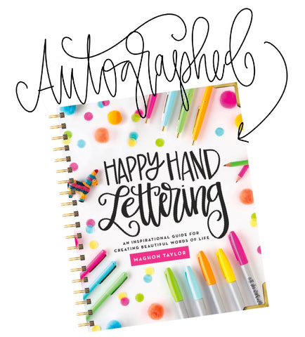 Signed Copy of Happy Hand Lettering