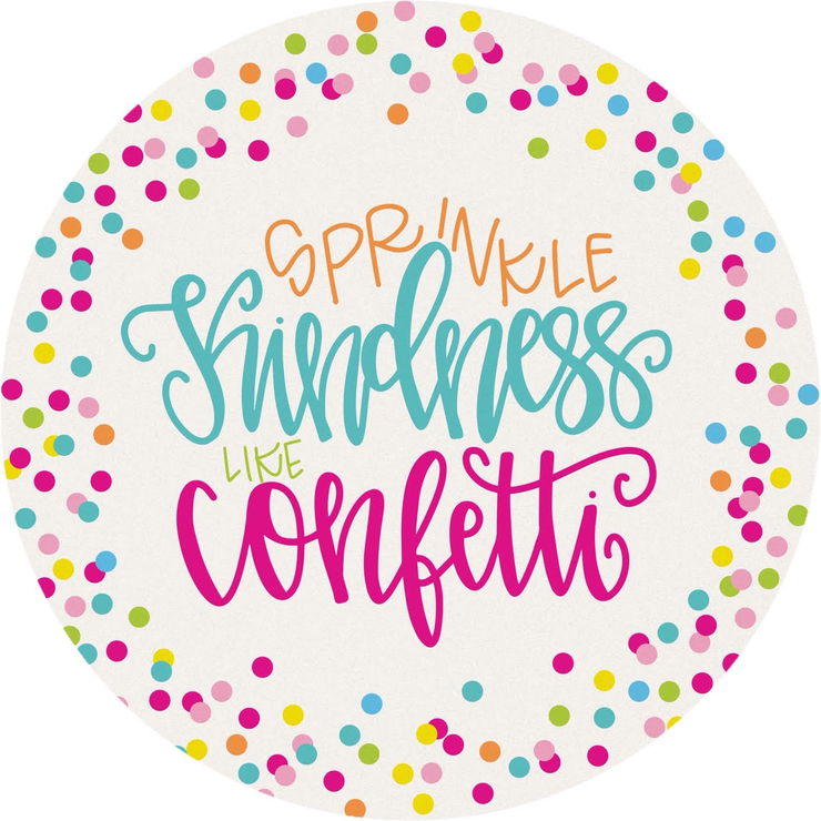 Kindness Like Confetti Car Coaster