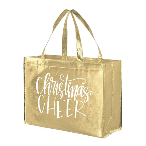 Christmas Cheer Gold Tote