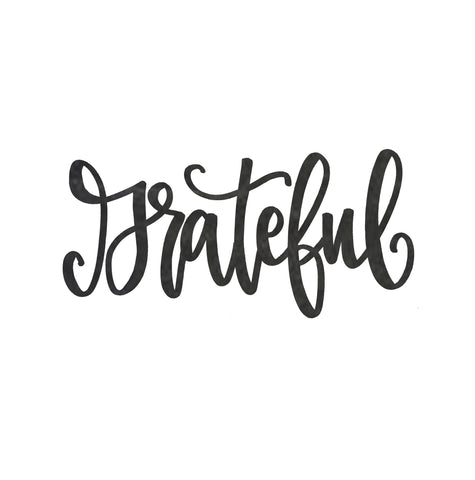 Grateful Steel Script Sign