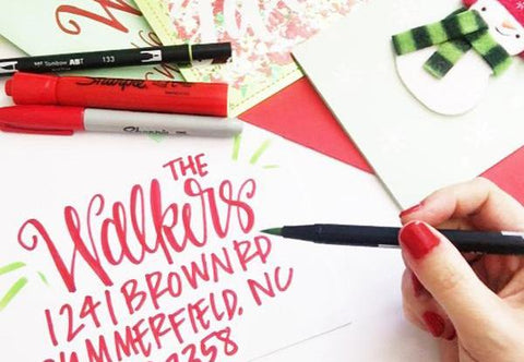Holiday Hand Lettering Class in Garner at Little Details 11-29