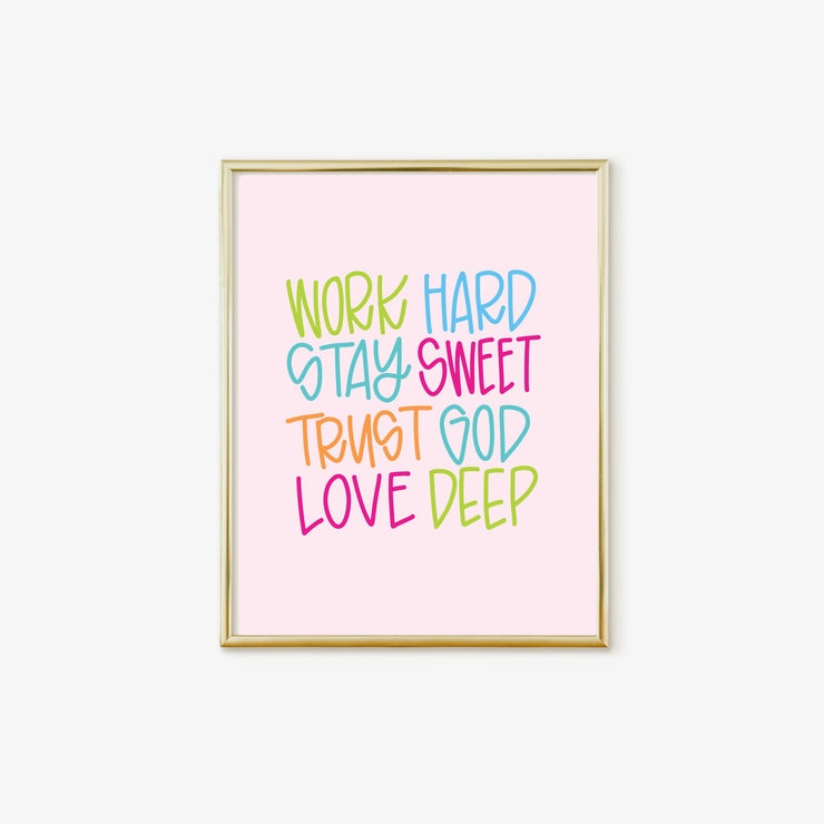 Life Motto Poster 11x14