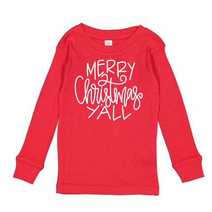 Toddler Long Sleeve Shirt - Merry Christmas Y'all