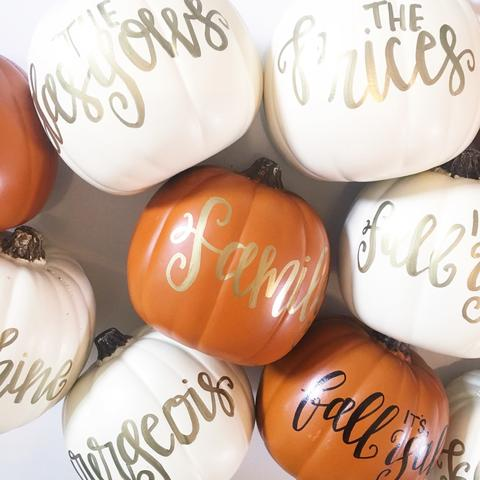Pumpkin Hand Lettering in Raleigh at Inspirations