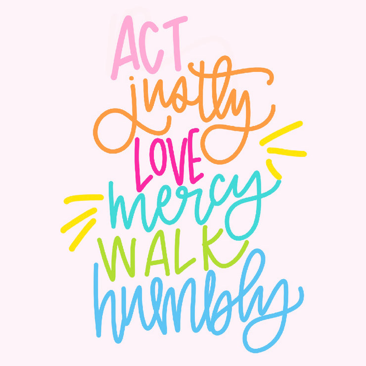 Act Justly Love Mercy Walk Humbly Sticker