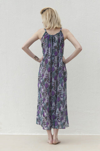 Gabriela Dress - Purple Feather