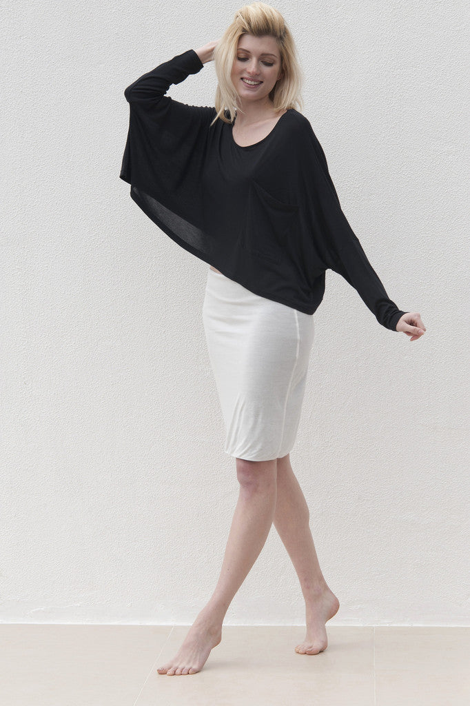 Audrey Skirt - Black with White