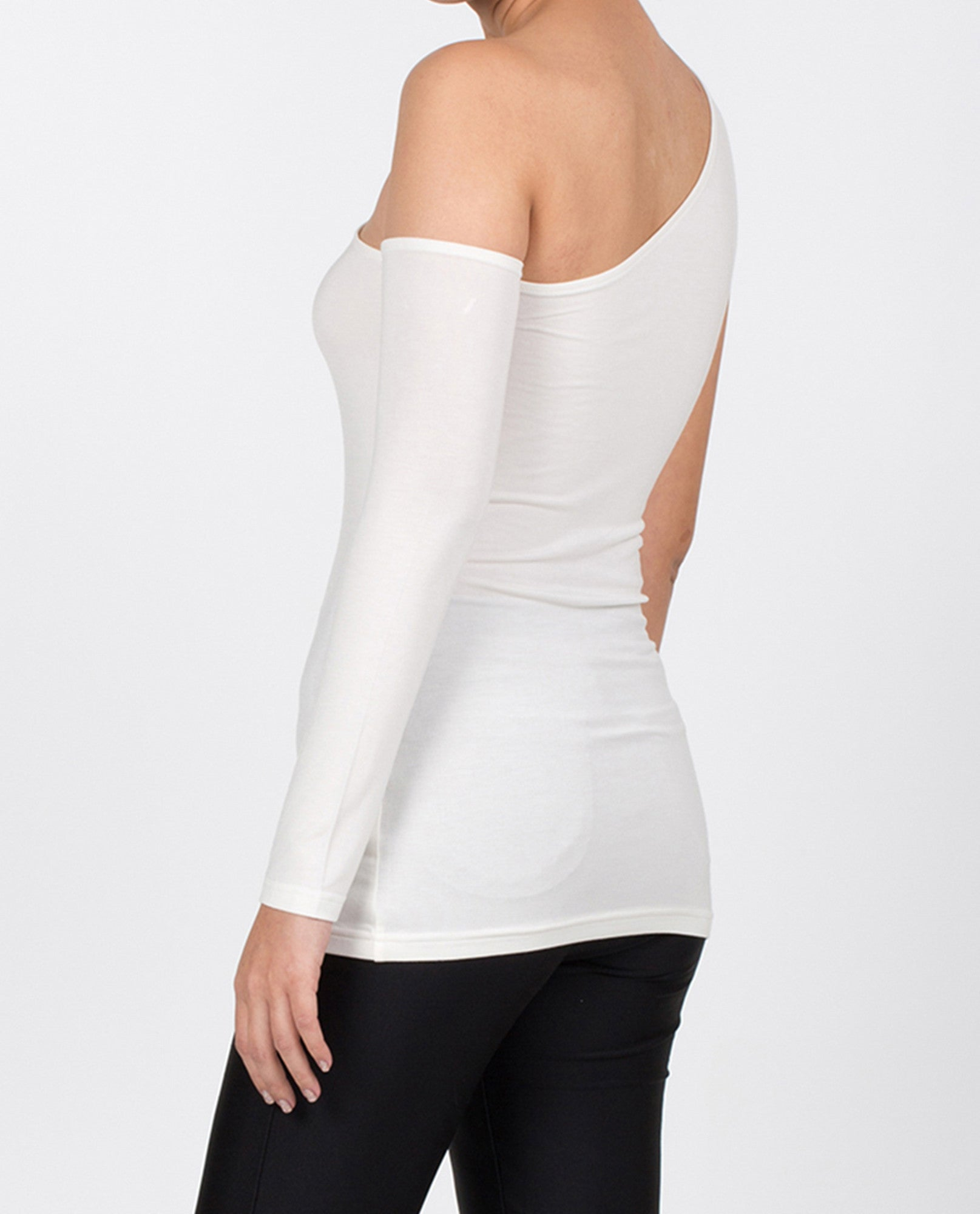Caroline One-Shoulder - White