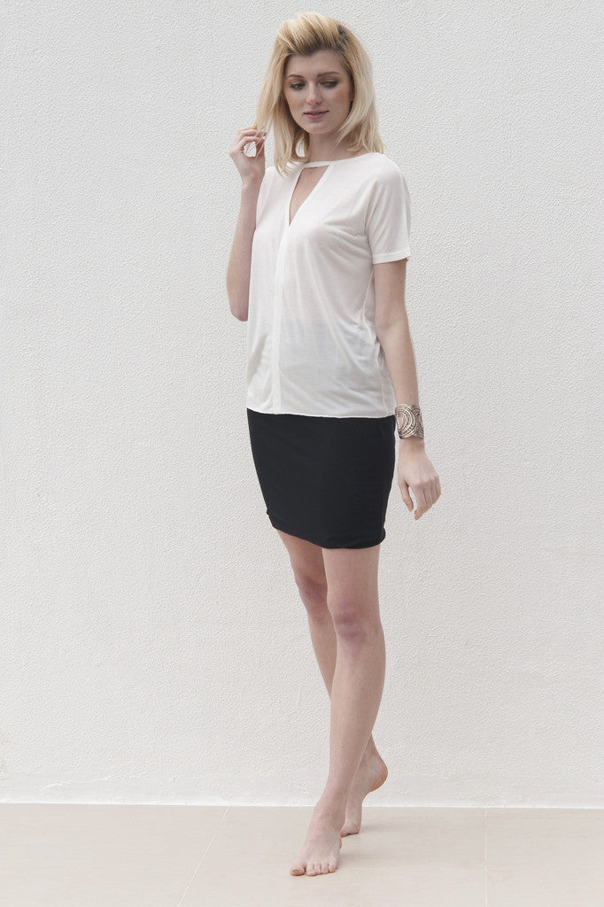 Heather Top - White