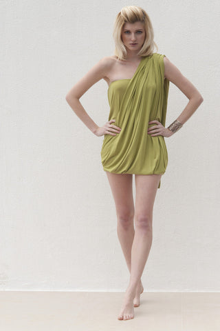 Milly Dress - Lime Green