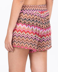 Shorts - Multi Pink Zigzag Knit Pattern