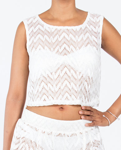 Crop Top  - Solid White