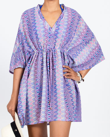 Zigzag Kaftan Short Empire - Multi Blue