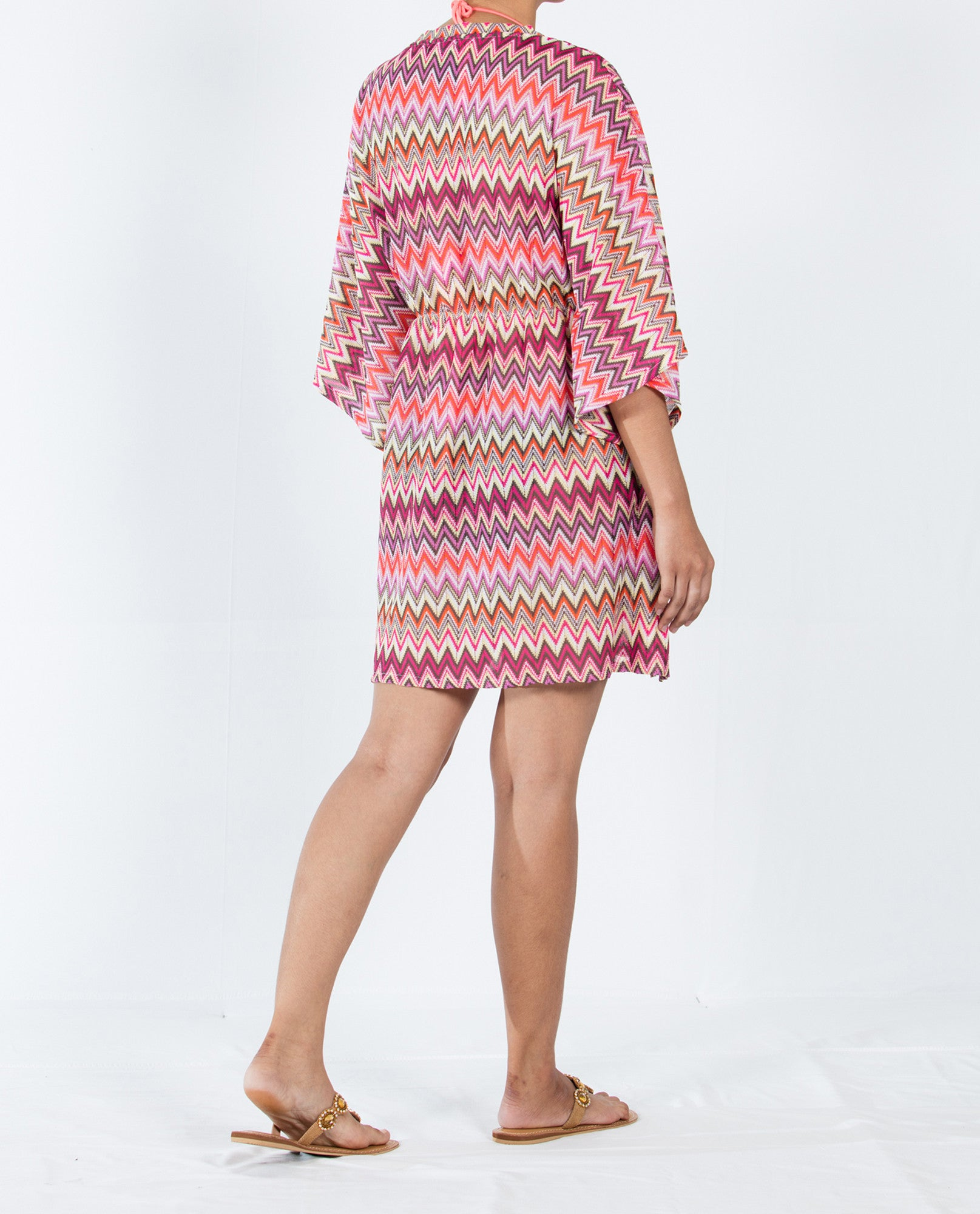 Zigzag Kaftan Short Empire - Multi Red