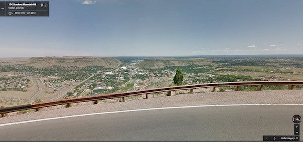 Lookout Mountain Road in Golden, Colorado