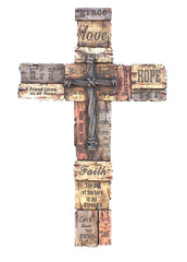 Cabin Decor by The Cabin Shack | Faith, Hope, and Love Wall Cross
