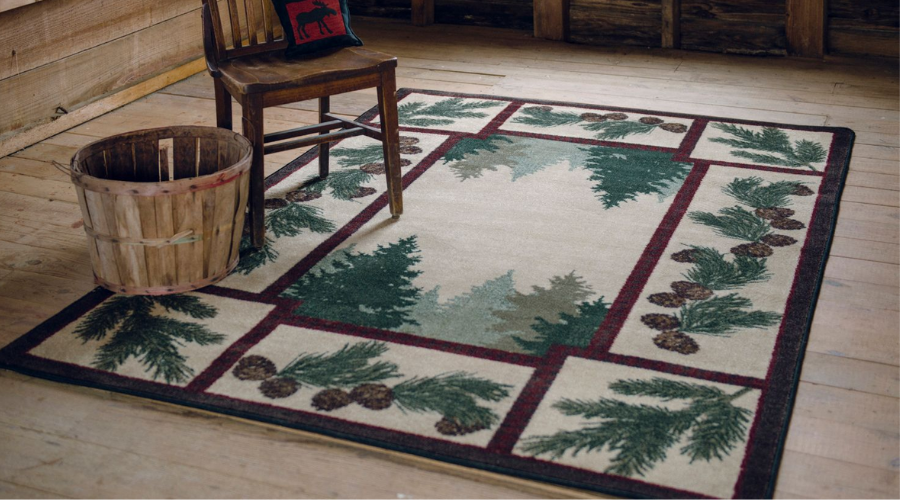 Pinecone Rugs and Pine Cone Area Rugs | The Cabin Shack
