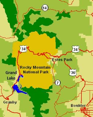 Rocky Mountain National Park Map | The Cabin Shack