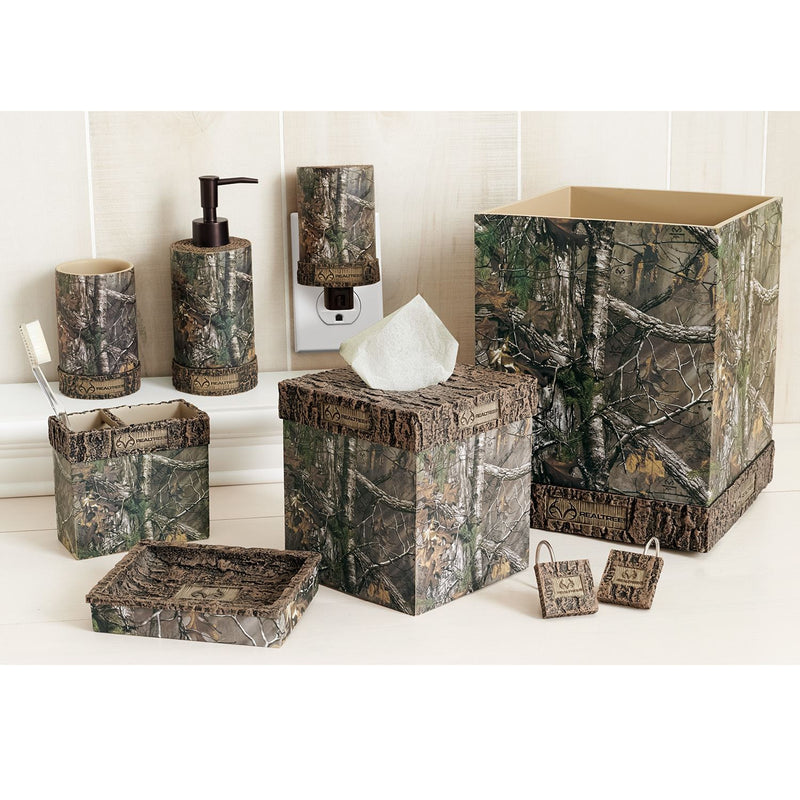Cabin Decor - Realtree Xtra Complete Bathroom Set for Hunting Cabin