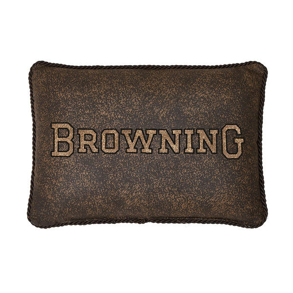 3D Buckmark Oblong Pillow | The Cabin Shack